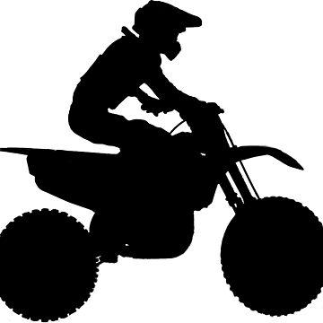 Motocross Rider Silhouette by NaturePrints