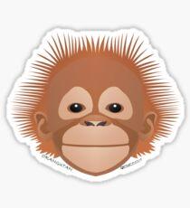 Baby Orangutan Face Sticker