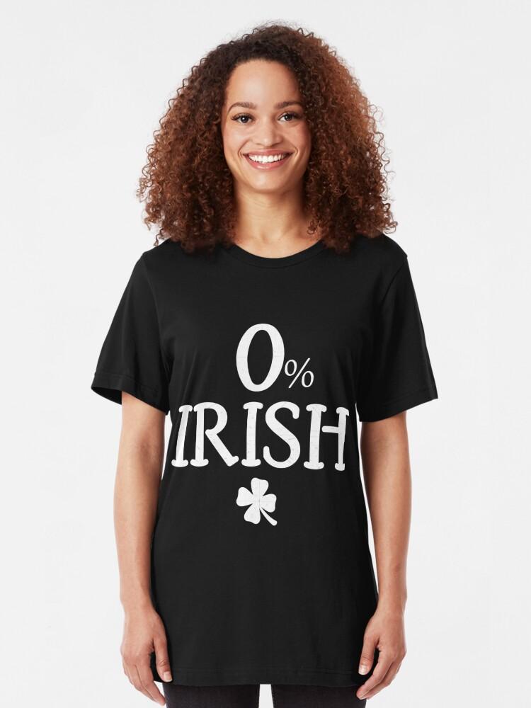 IRISH I WERE DRUNK St Patrick Ladies Fit Black T-Shirt