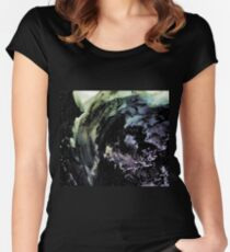 Ghostly wave abstract painting Women's Fitted Scoop T-Shirt