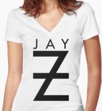 Jay-Z Women's Fitted V-Neck T-Shirt