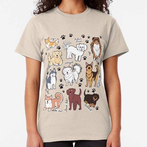Cute dogs! 10 breeds Classic T-Shirt