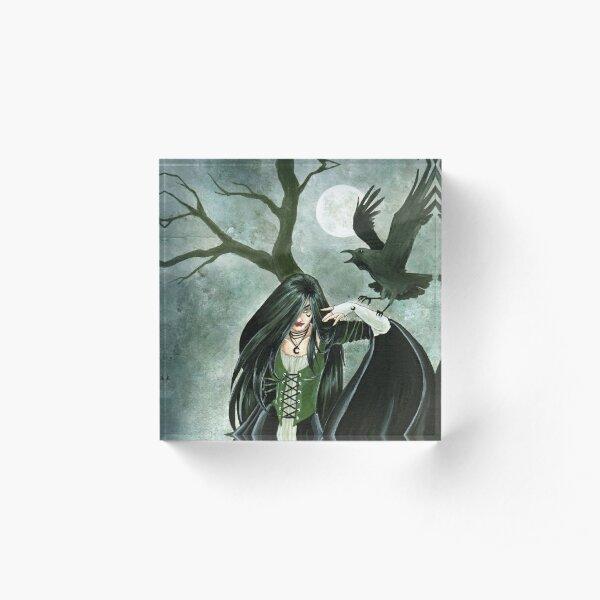 Raven Witch Acrylic Block