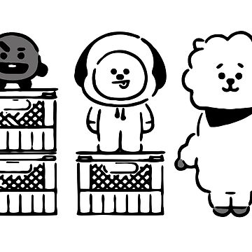 """BT21 - """" Who's taller? """" // Shooky & Chimmy & RJ by Red-One48"""