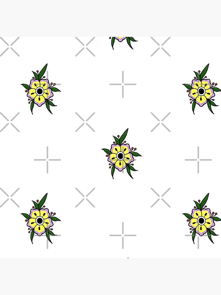 3eb8ae369521c Neo traditional flower