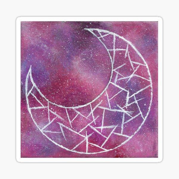 Cosmic Crescent Moon Sticker