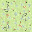 Boomerangs on Celery Green by Gail Gabel, LLC