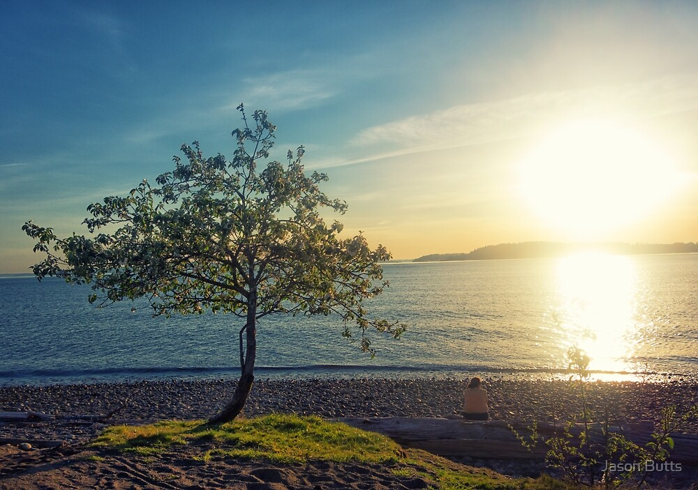 Tree On The Beach by Jason Butts
