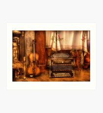 The Violin and the Accordian Art Print