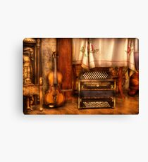 The Violin and the Accordian Canvas Print