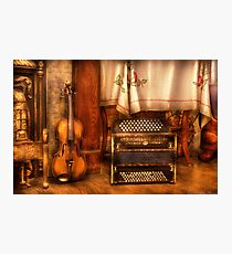 The Violin and the Accordian Photographic Print