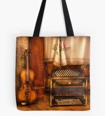 The Violin and the Accordian Tote Bag