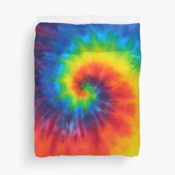 tie dye swirl rainbow Duvet Cover