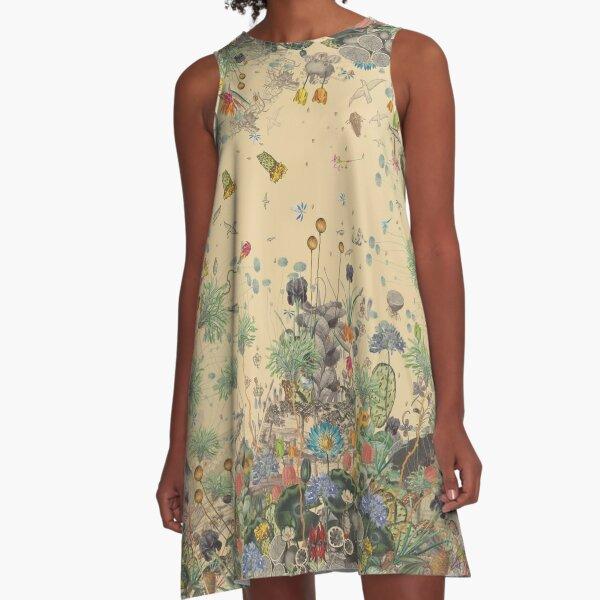 Garden Surround A-Line Dress