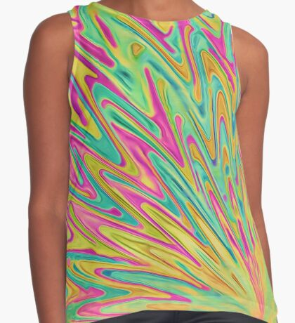 Abstract Newborn Star Sleeveless Top
