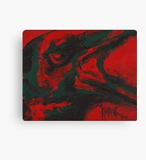 Angry Bird - Crow Painting Canvas Print