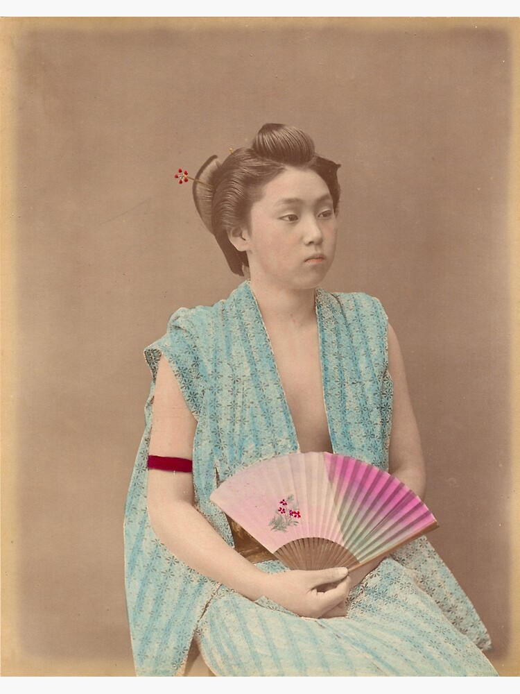 Japanese girl with fan by Fletchsan