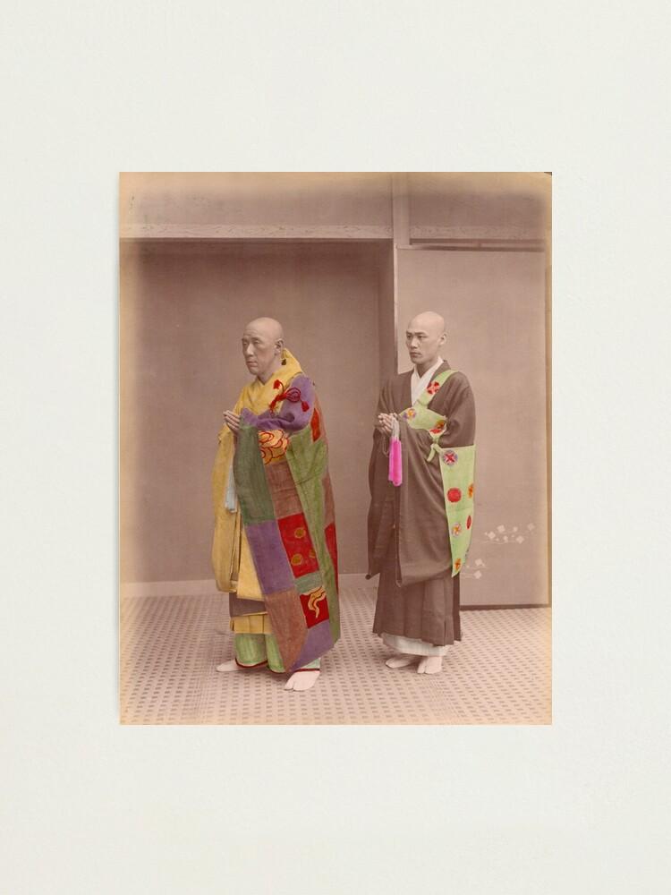 Alternate view of Japanese Buddhist Priests Photographic Print
