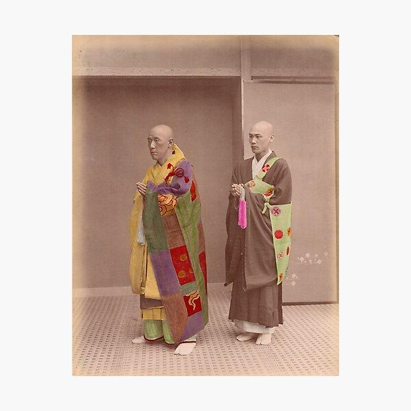 Japanese Buddhist Priests Photographic Print