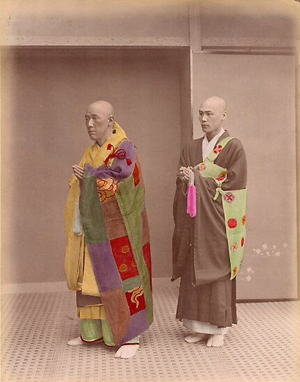 Japanese Buddhist Priests by Fletchsan
