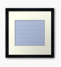 Bright Serenity blue  Multi coloured pastel polka dots Framed Print