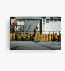 Top, Middle and Bottom in Shanghai Canvas Print