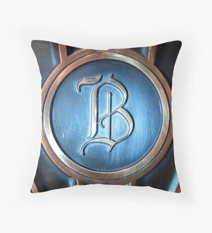 Monogram in Bronze Throw Pillow