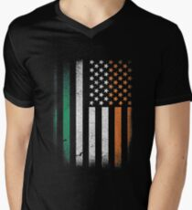 Irish Flag T shirt - st patricks day Men's V-Neck T-Shirt