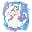 Watercolour Fanart Illustration of Sailor Moon by arosecast