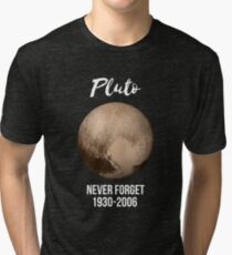 Pluto never forget geek nerd gift idea Tri-blend T-Shirt