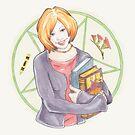 Watercolour Fanart Illustration of Willow Rosenberg from Joss Whedon's Buffy The Vampire Slayer by arosecast