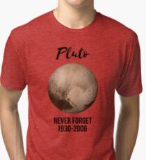 Pluto never forget geek nerd gift idea Tri-blend T-Shirt