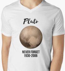 Pluto never forget geek nerd gift idea Men's V-Neck T-Shirt