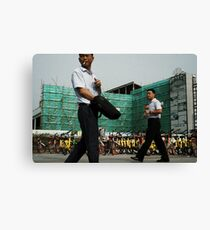 Business Time in Shanghai Canvas Print