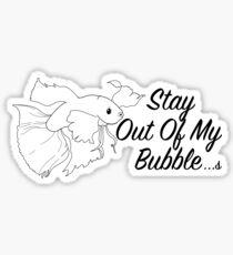 Betta bubble Sticker