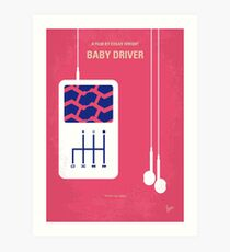 No872 Mein Babyfahrer minimales Filmplakat Kunstdruck