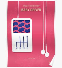 No872 My Baby Driver minimal movie poster Poster