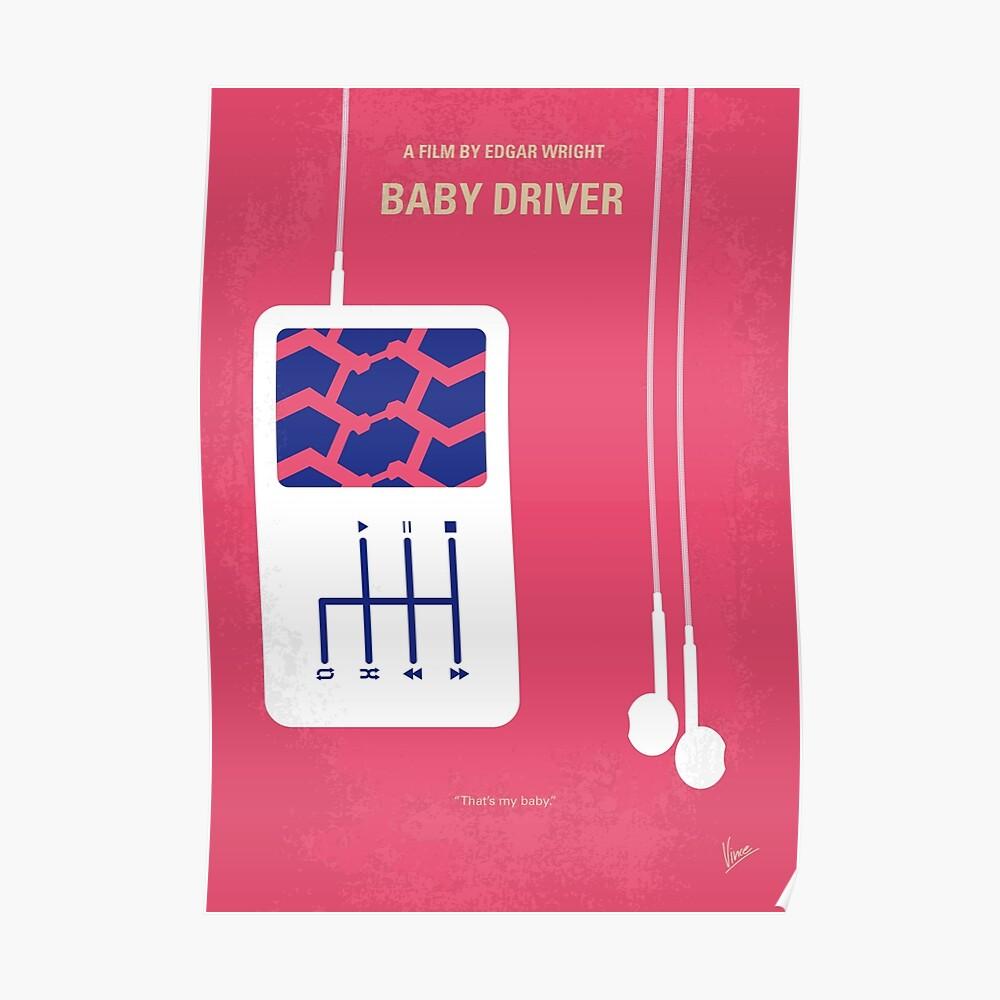 No872 Mein Babyfahrer minimales Filmplakat Poster