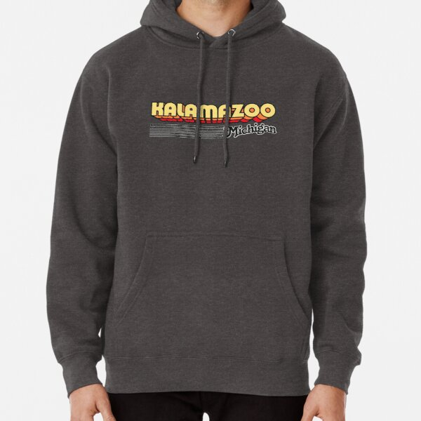 Kalamazoo, Michigan | Retro Stripes Pullover Hoodie