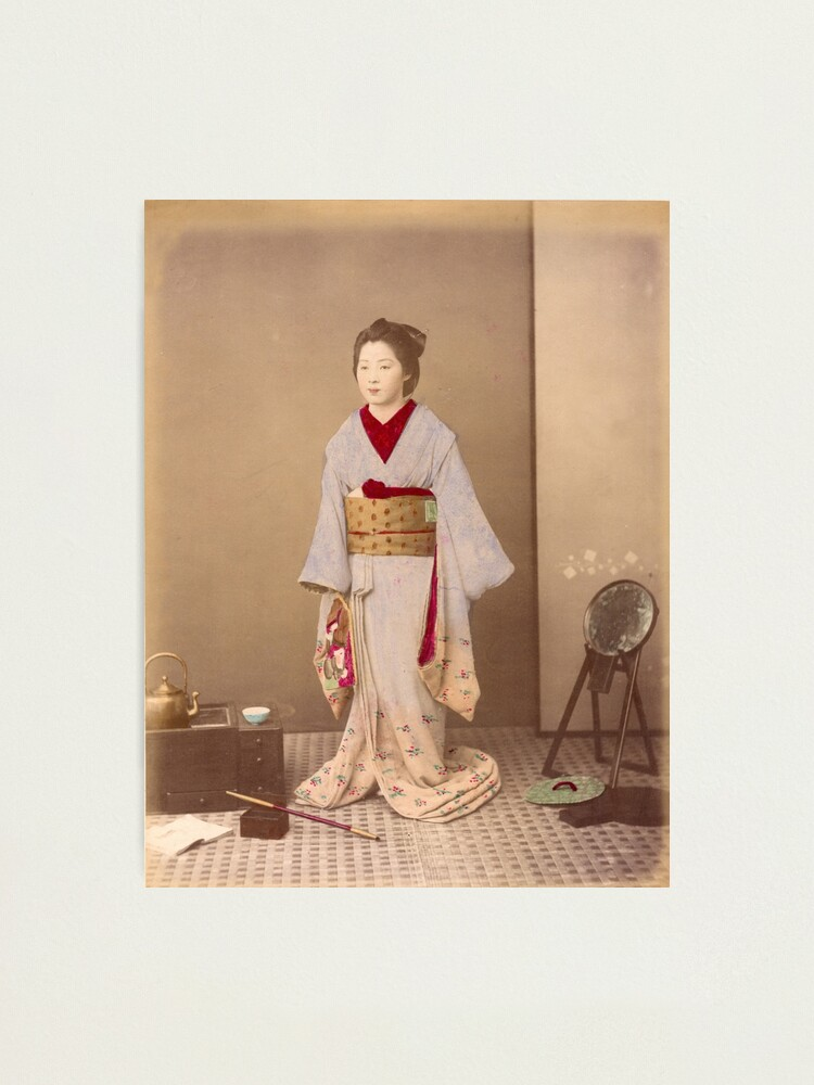 Alternate view of Japanese girl in Kimono Photographic Print
