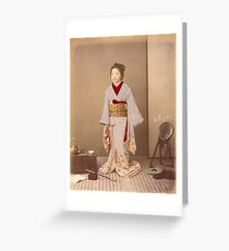 Japanese girl in Kimono Greeting Card