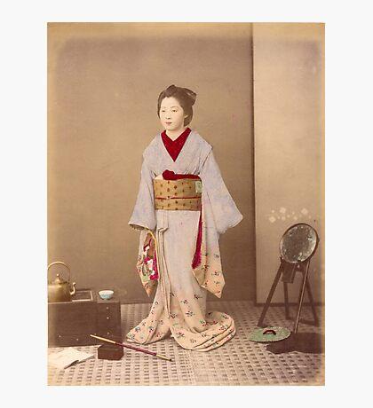Japanese girl in Kimono Photographic Print