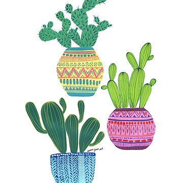 Emma Jones Art - Trio of Cacti by emmajonesart