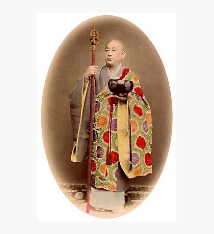 Japanese buddhist priest Photographic Print