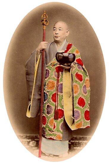 Japanese buddhist priest by Fletchsan