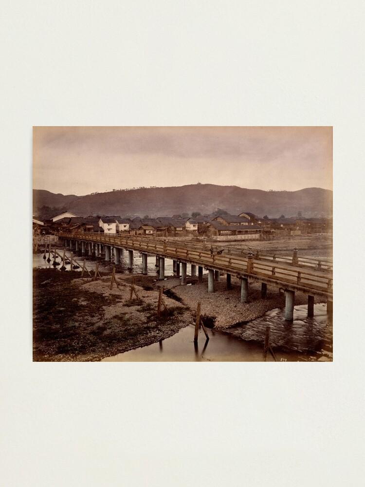 Alternate view of Samijio bridge, Kyoto, Japan Photographic Print