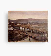 Samijio bridge, Kyoto, Japan Metal Print
