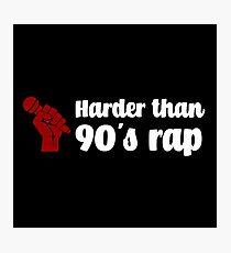 90's rap hip hop retro music Photographic Print