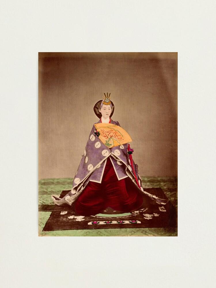 Alternate view of Meiji empress Shoken, Japan, 1873 Photographic Print