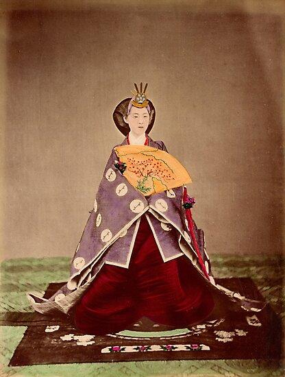 Meiji empress Shoken, Japan, 1873 by Fletchsan